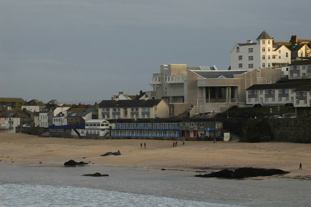 Porthmeor Beach and the Tate Gallery, St. Ives