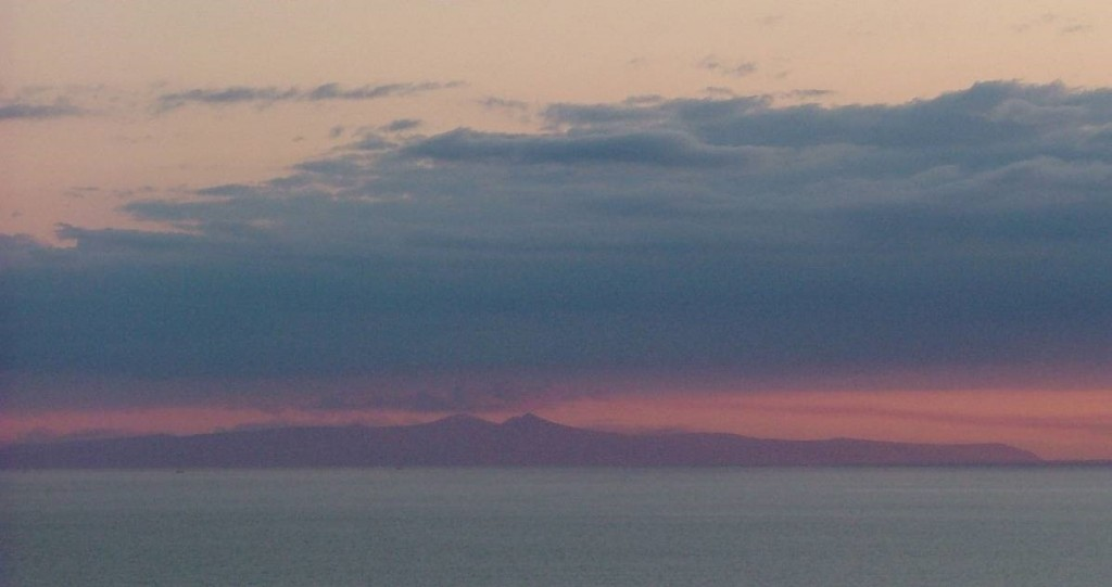 Isle of Man from St. Bees