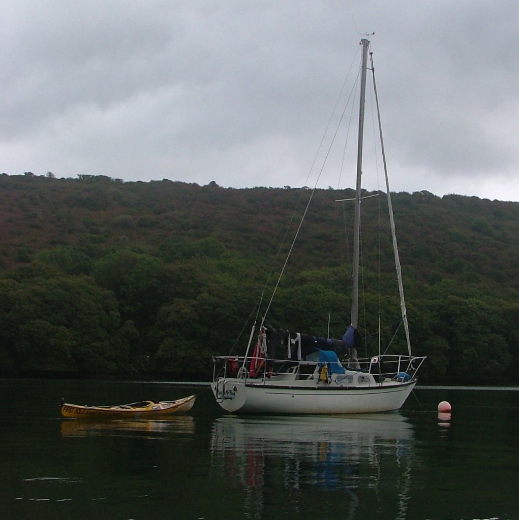 Mum's yacht, Treble O Two on the River Fowey