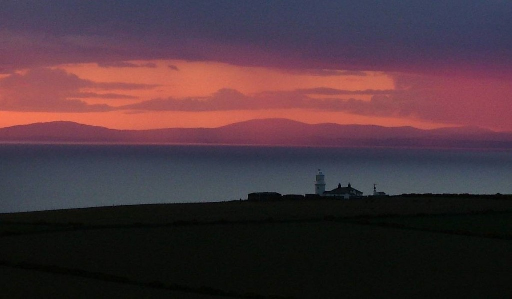 Solway Firth and St. Bees lighthouse