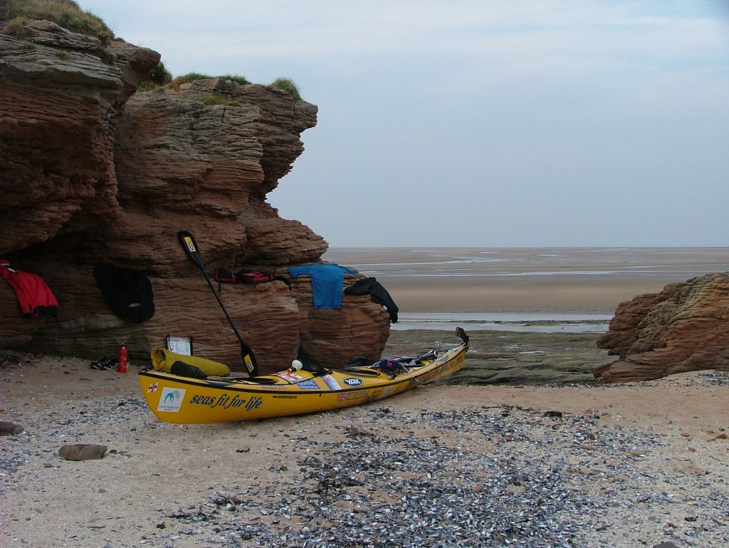setting up camp, Hilbre Island