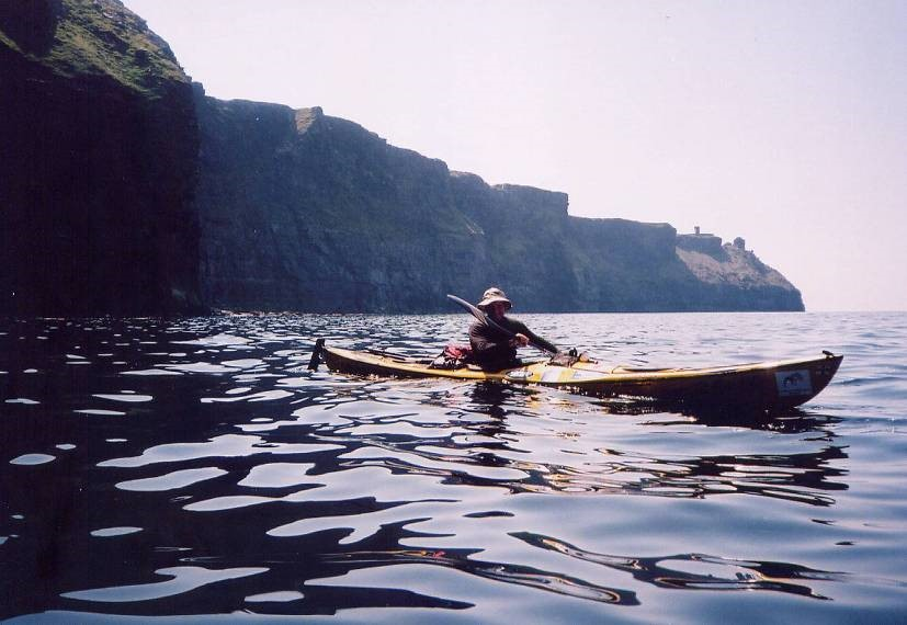 a glassy day below the Cliffs of Moher
