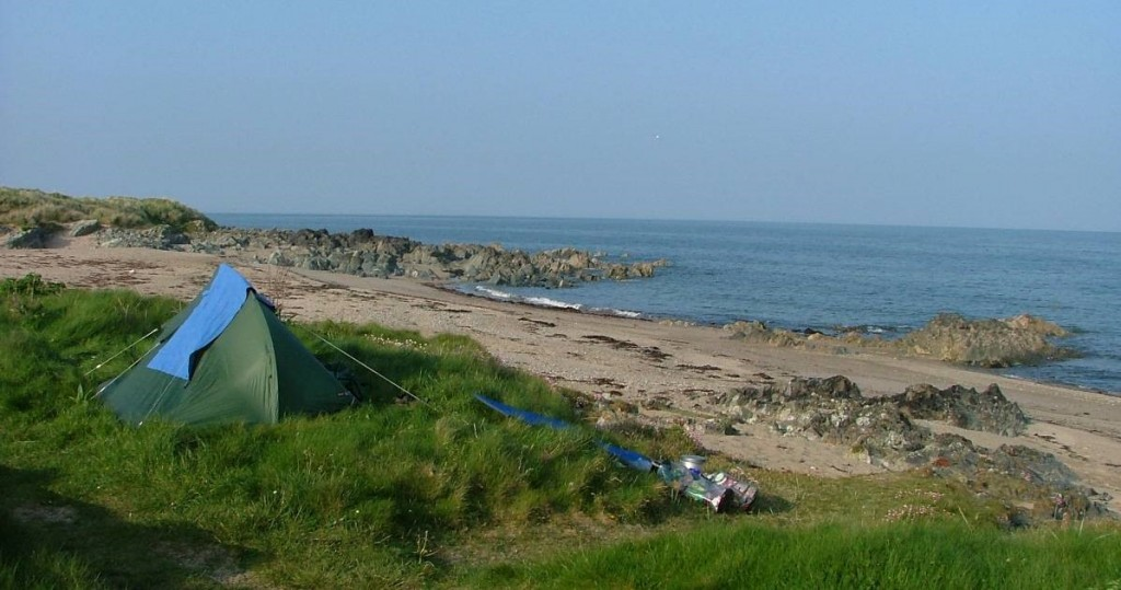 campsite at Greenore Point