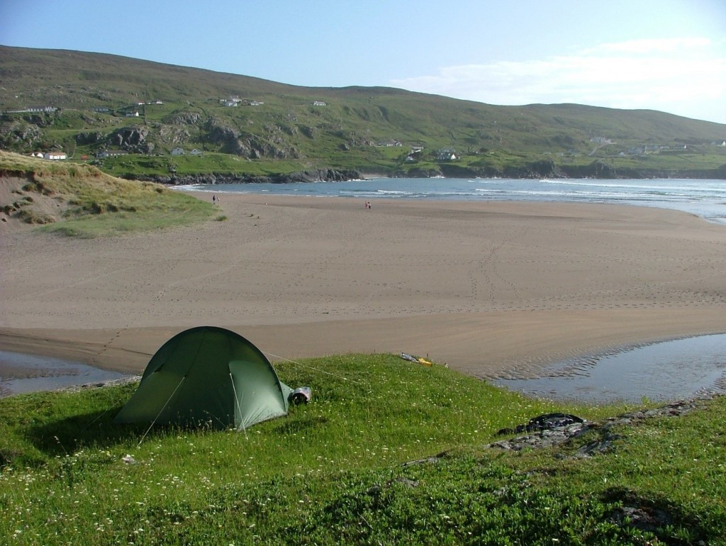 campsite ovelooking Glen Bay, Co. Donegal