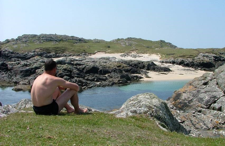 sunbathing, Slyne Head