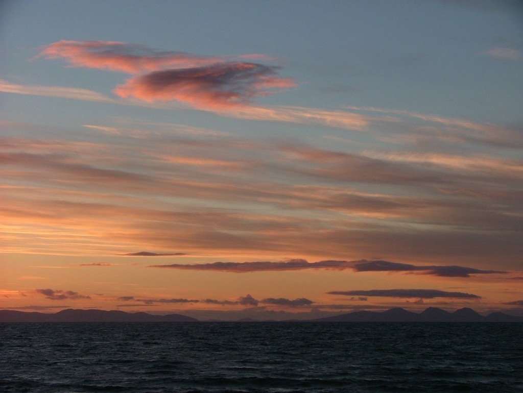 sunset over Islay & Jura