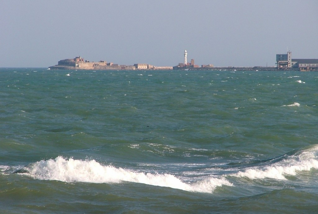 windy day at Portland Harbour